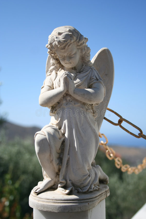 Anjo Praying foto de stock royalty free