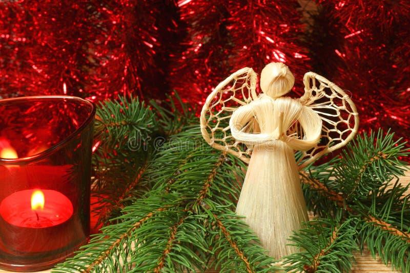 Anjo praying do Natal fotografia de stock