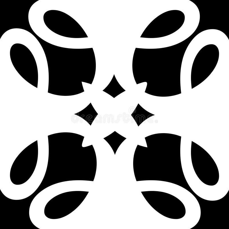 Anjo preto e branco monocromático do estilo das flores do vetor do sumário ilustração do vetor