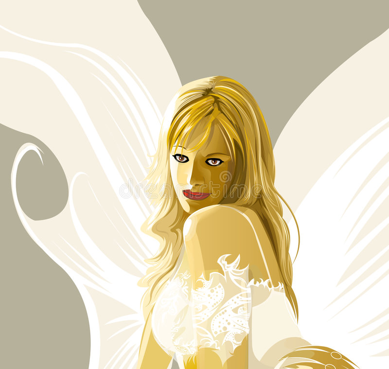 Anjo silencioso ilustração do vetor