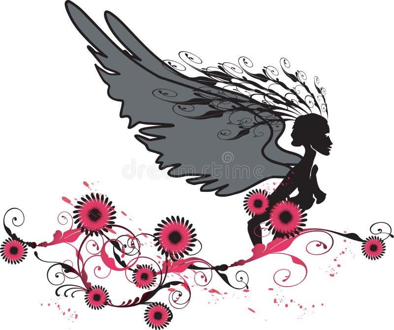 Anjo vermelho ilustração royalty free