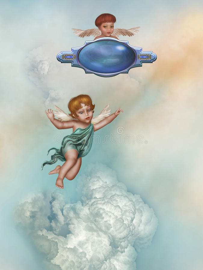 Anjos ilustração stock