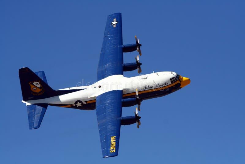 Anjos azuis C-130 \ imagem de stock royalty free