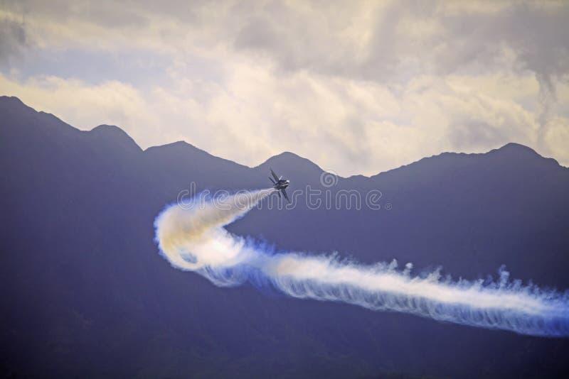 Anjos azuis em Kaneohe Airshow fotografia de stock