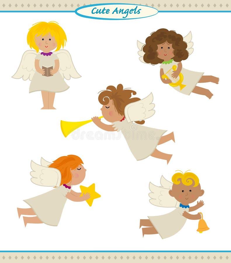 Anjos bonitos ilustração royalty free