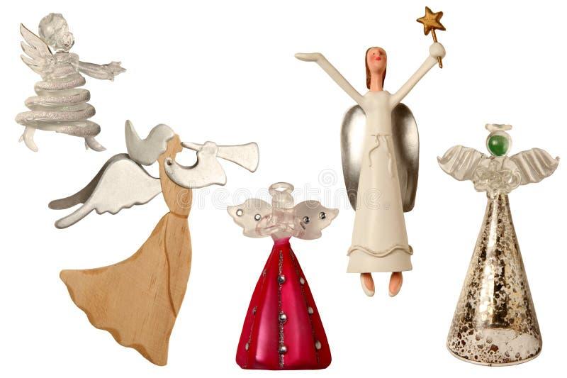 Anjos da árvore de Natal ilustração stock