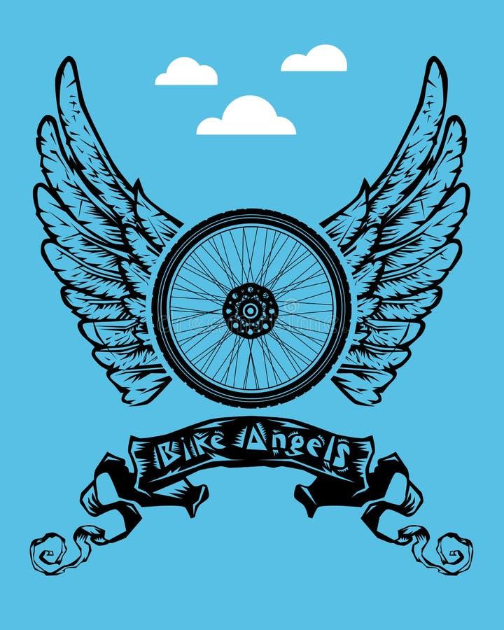 Anjos da bicicleta ilustração do vetor