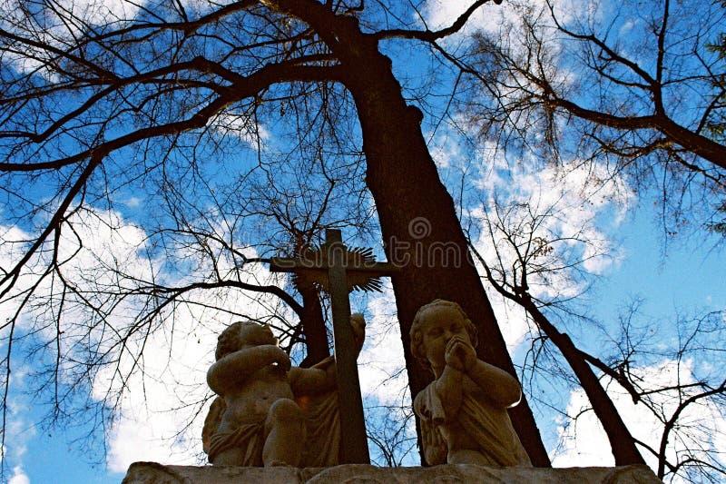 Anjos de pedra fotografia de stock