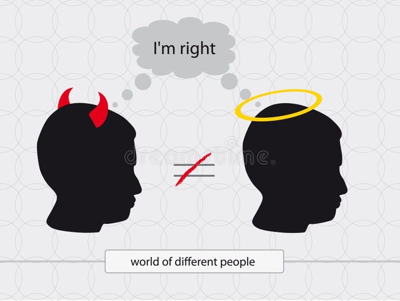 Anjos & demônios imagem de stock