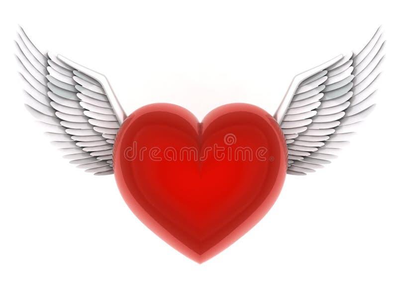 Anjos do coração ilustração stock