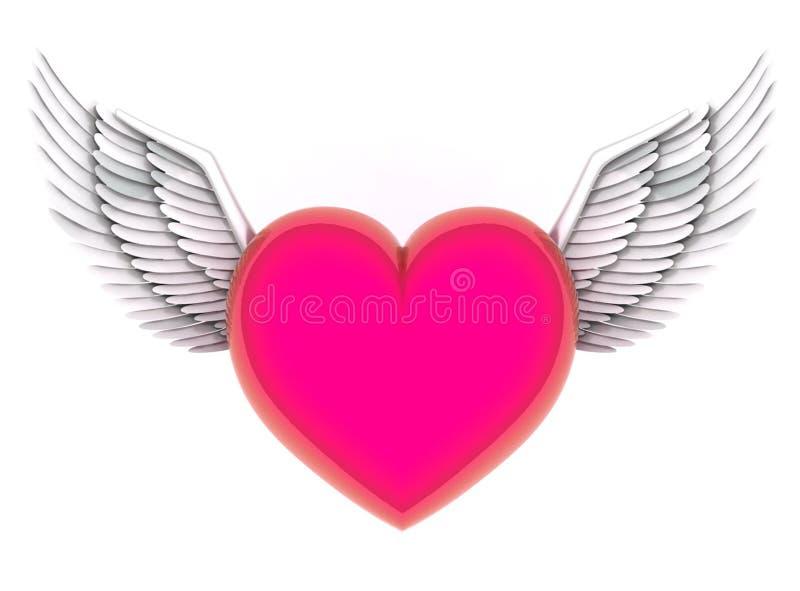 Anjos do coração ilustração royalty free