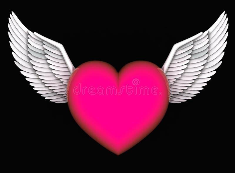 Anjos do coração ilustração do vetor