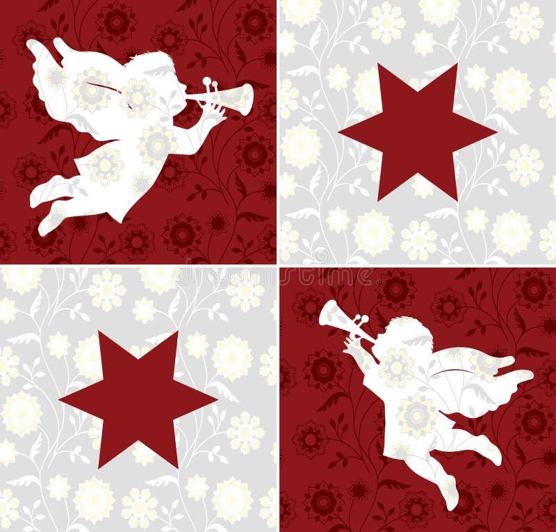 Anjos do Natal ilustração do vetor