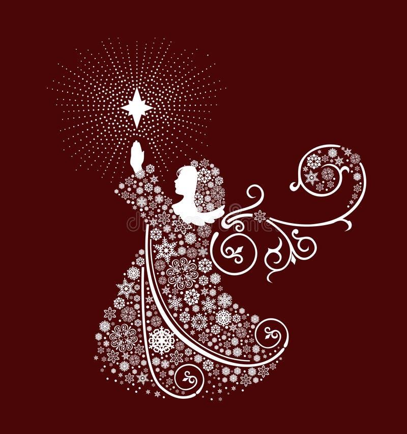 Anjos do Natal. ilustração stock