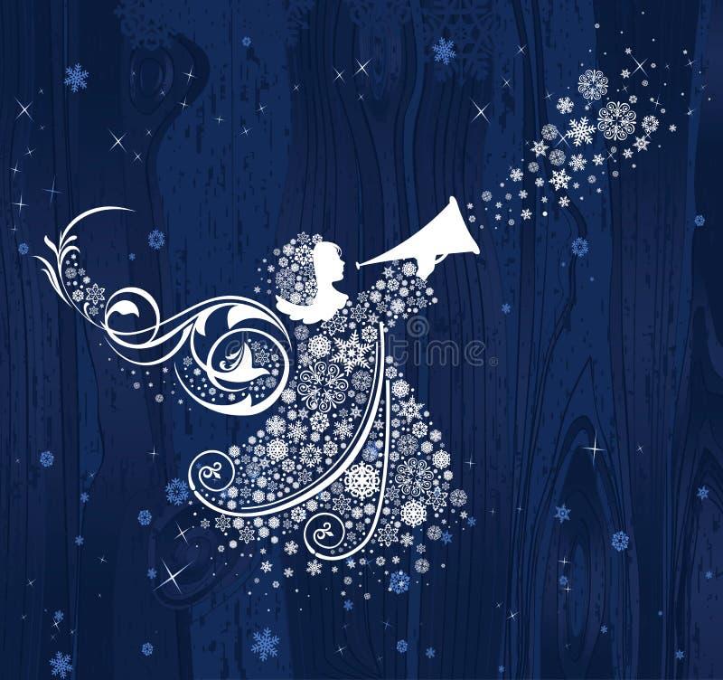 Anjos do Natal. ilustração do vetor