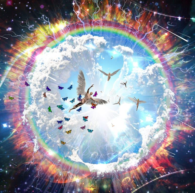 Anjos e borboletas imagens de stock royalty free