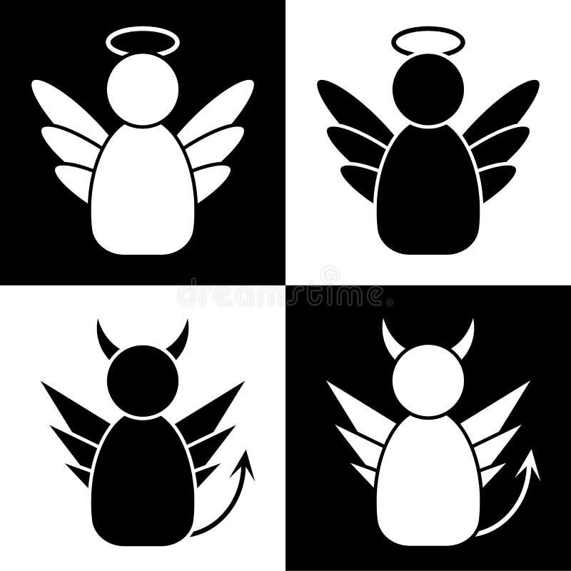 Anjos e demônios ilustração stock