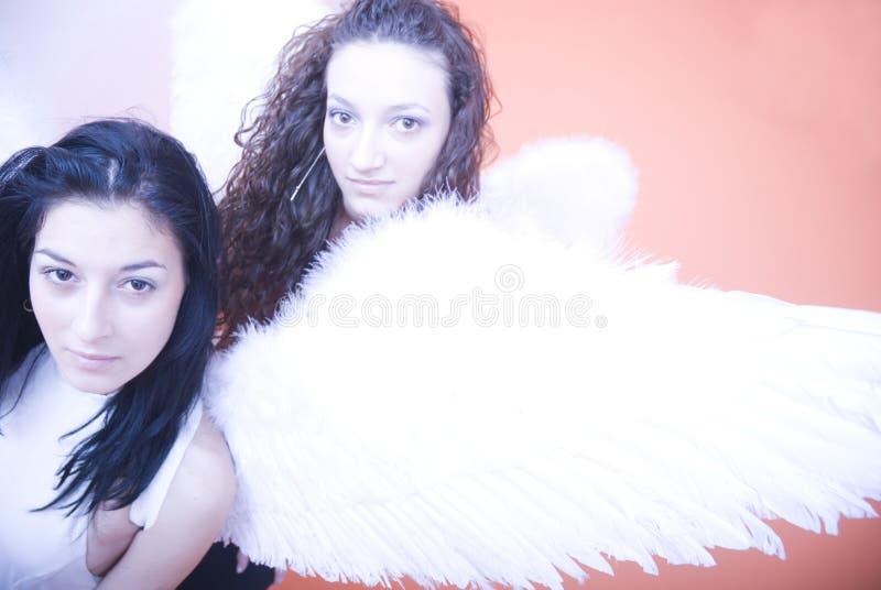 Anjos fêmeas novos fotografia de stock
