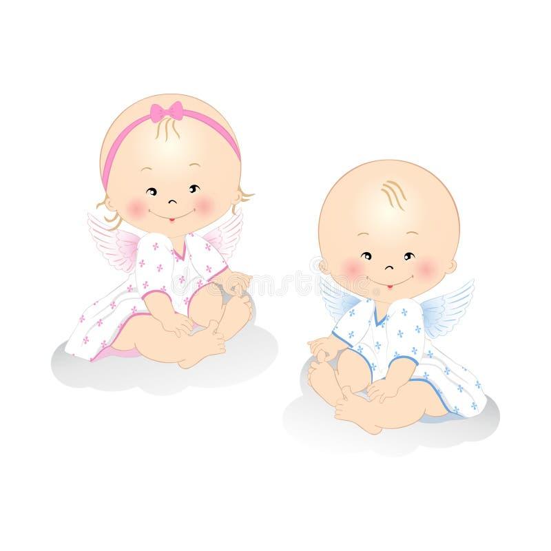 Anjos pequenos ilustração stock