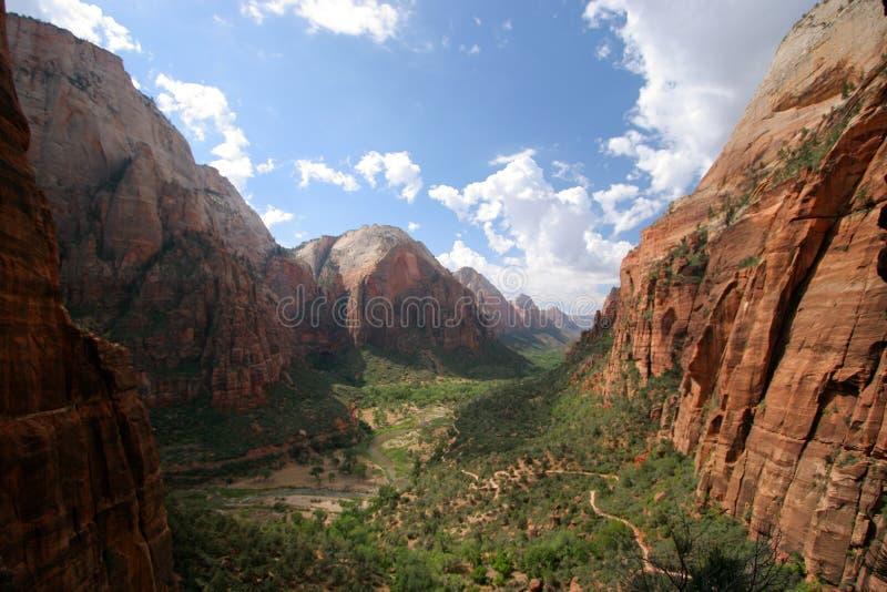 Anjos que aterram a fuga Zion National Park foto de stock