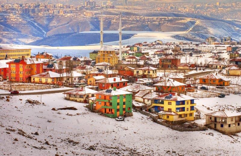 Ankara. The city of ankara in turkey coverd with snow royalty free stock image