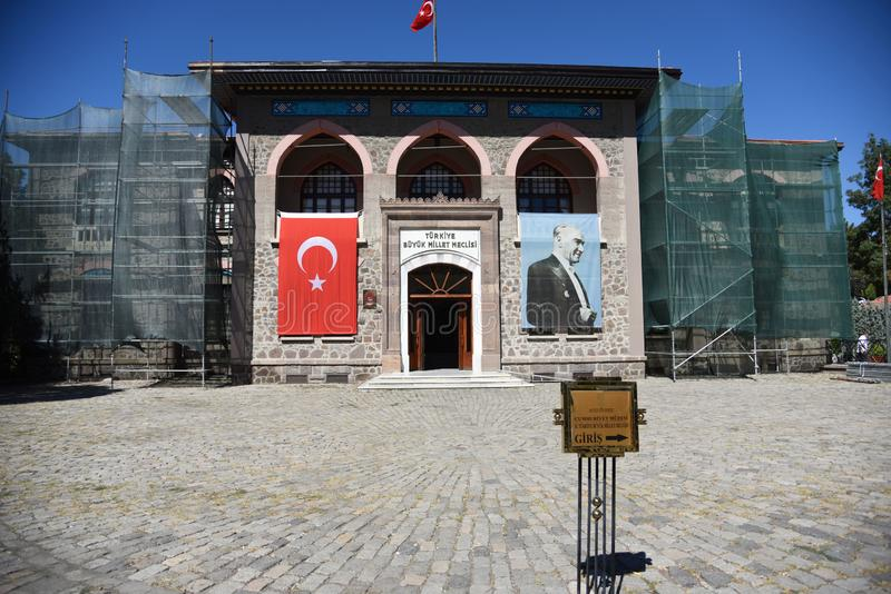 Ankara, asamblea histórica de Grand National del turco de Turkey-09,19,2018-The, foto de archivo libre de regalías
