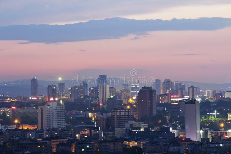 Ankara, Capital city of Turkey. Night view stock photography