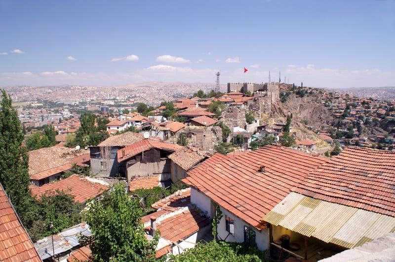 Ankara Castle. Citadel Wall Above City Ankara stock image