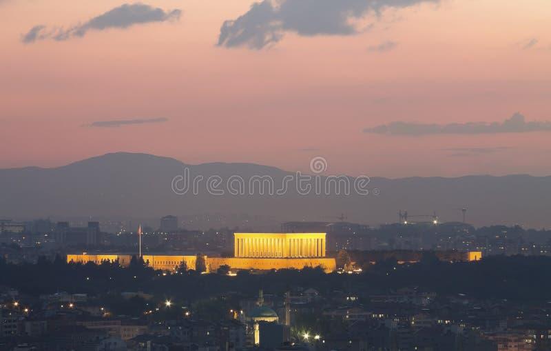 Ankara cityscape. With mausoleum of Mustafa Kemal Ataturk, Ankara, Turkey stock image