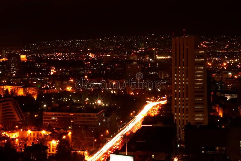 Ankara nights. Night shot of Ankara, capital of turkey royalty free stock photos