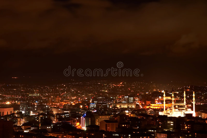 Ankara nights. Night shot of Ankara, capital of turkey stock images