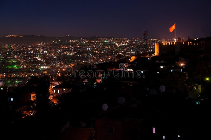 Ankara przy noc Turcja zdjęcia royalty free