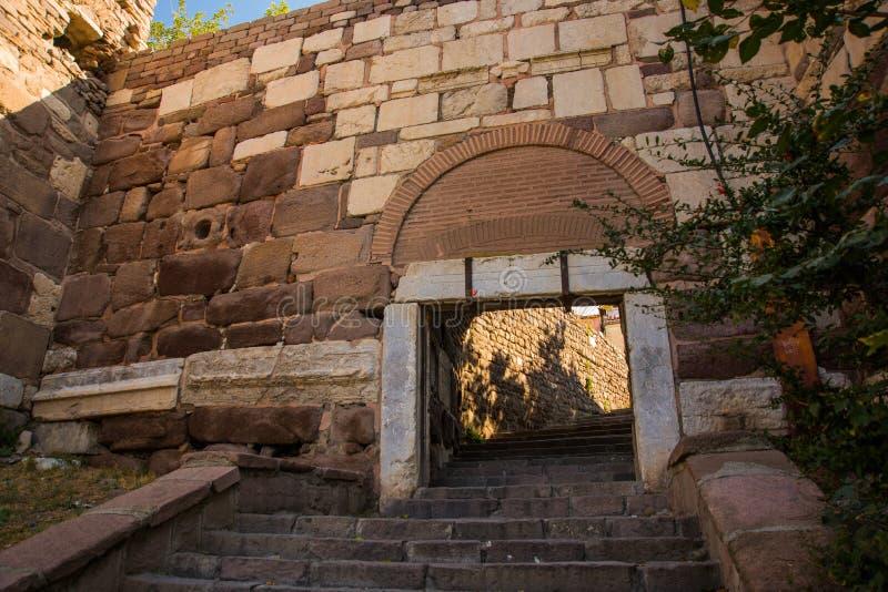 Ankara slott Ingång till den gamla fästningen Ankara huvudstad av Turkiet fotografering för bildbyråer