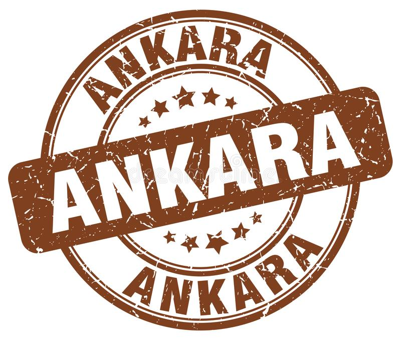 Ankara stämpel stock illustrationer