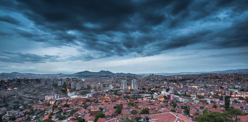 Ankara, stolica Turcja, noc widok obraz stock