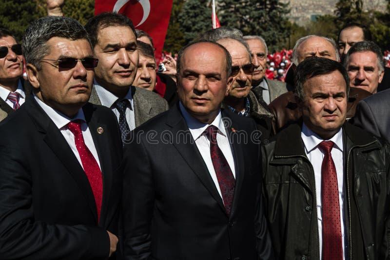 ANKARA TURCJA, MAR, - 15, 2014: Prezydent Przechodzić na emeryturę turecczyzna NCO obrazy royalty free