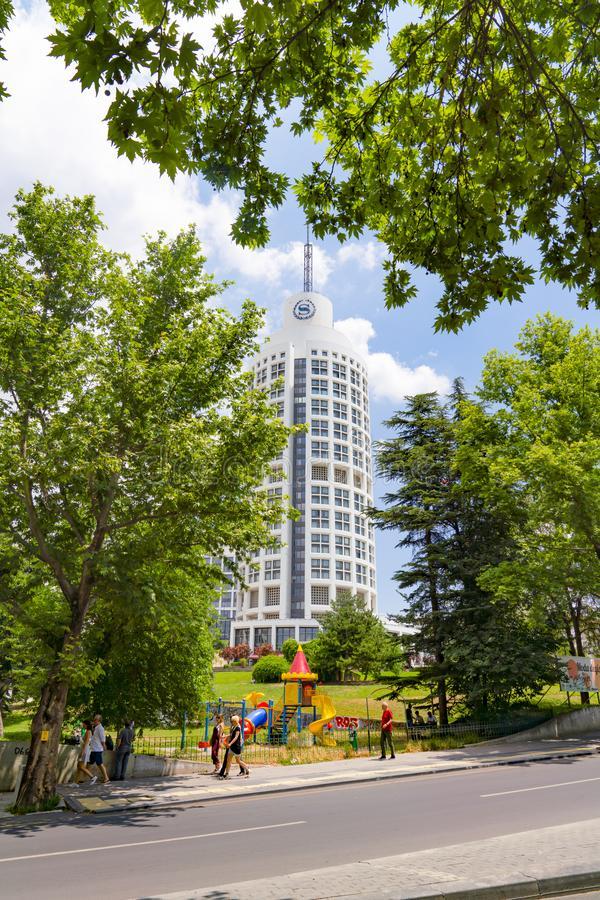 Ankara/Turkey-July 06 2019: Sheraton Hotel in Kavaklidere District royalty free stock image