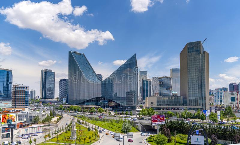 Ankara/Turkey-June 23 2019: Panoramic Ankara view with the Sogutozu district royalty free stock images