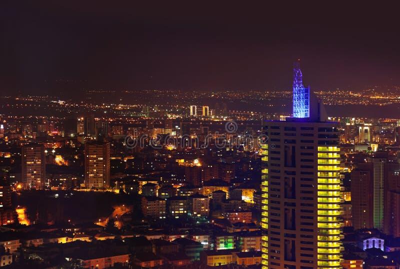 Ankara Turkey at night. Architecture travel background stock photos