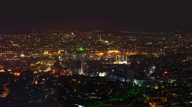 Ankara Turkey at night. Architecture travel background stock image