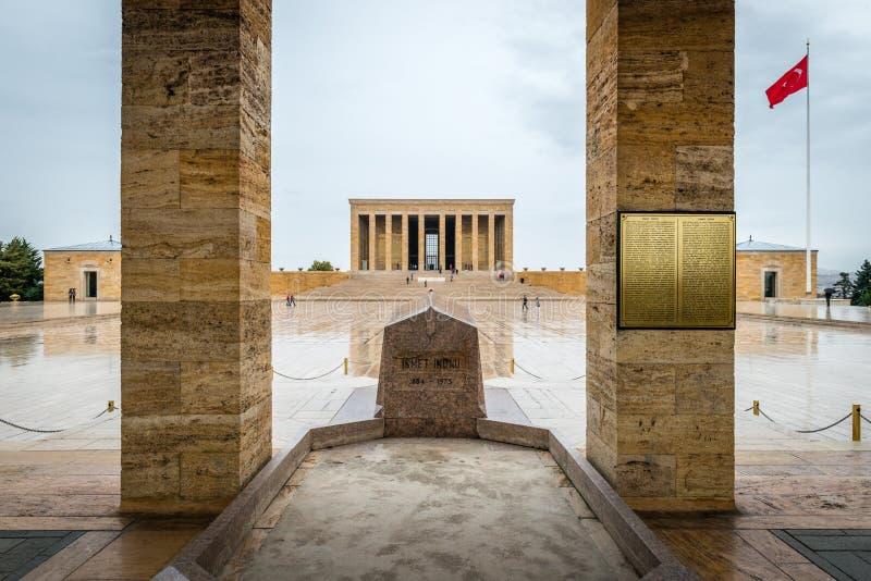 Ankara Turkiet - mausoleum av Ataturk arkivbilder