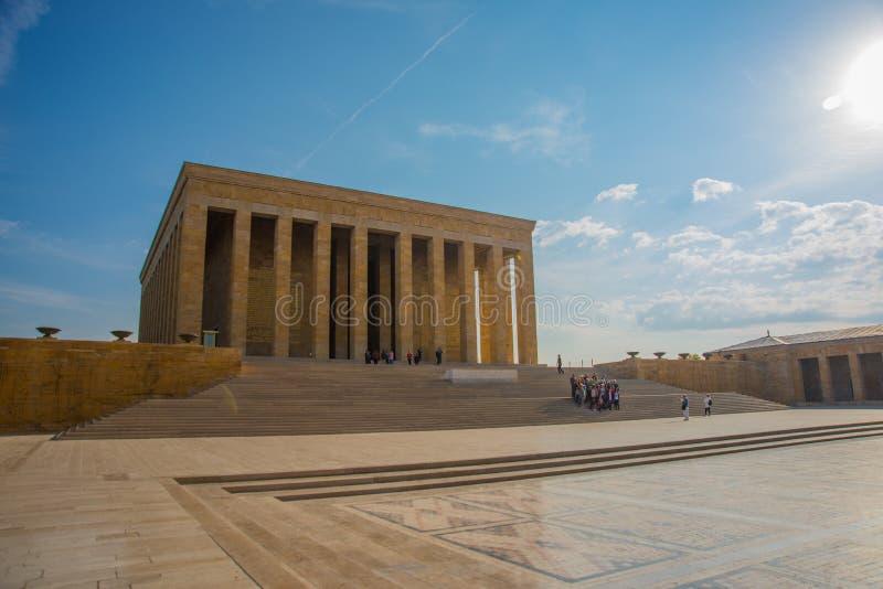 Ankara, Turquía: Anitkabir es el mausoleo del fundador de la república turca, Mustafa Kemal Ataturk fotografía de archivo libre de regalías