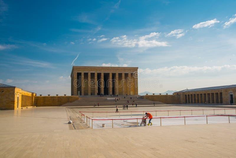 Ankara, Turquía: Anitkabir es el mausoleo del fundador de la república turca, Mustafa Kemal Ataturk imágenes de archivo libres de regalías