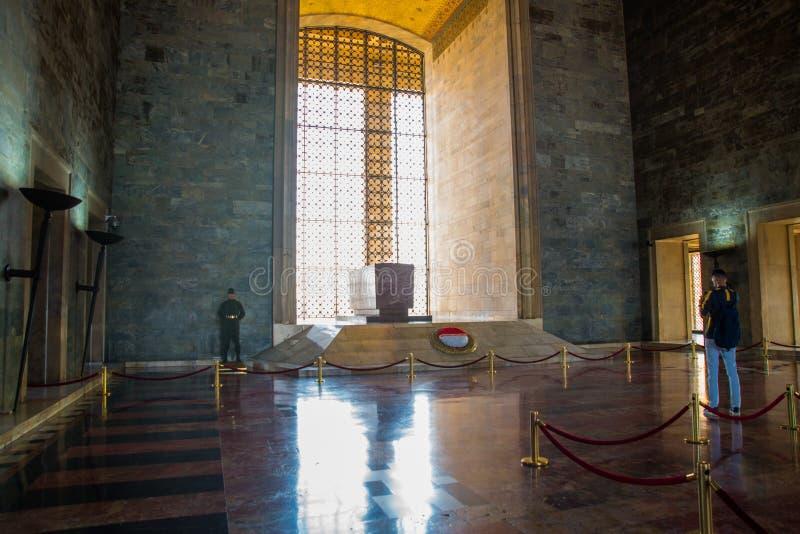 Ankara, Turquía: Anitkabir es el mausoleo del fundador de la república turca, Mustafa Kemal Ataturk Interior imágenes de archivo libres de regalías