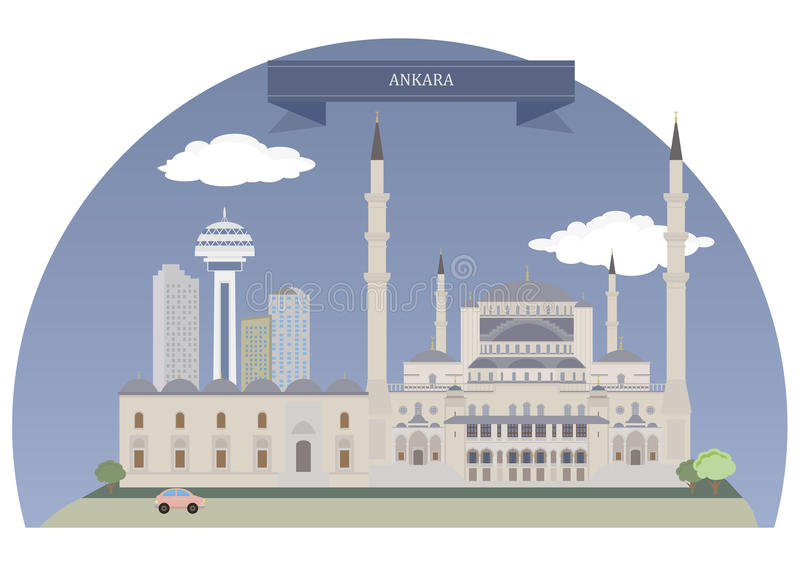 Ankara, Turquie illustration de vecteur
