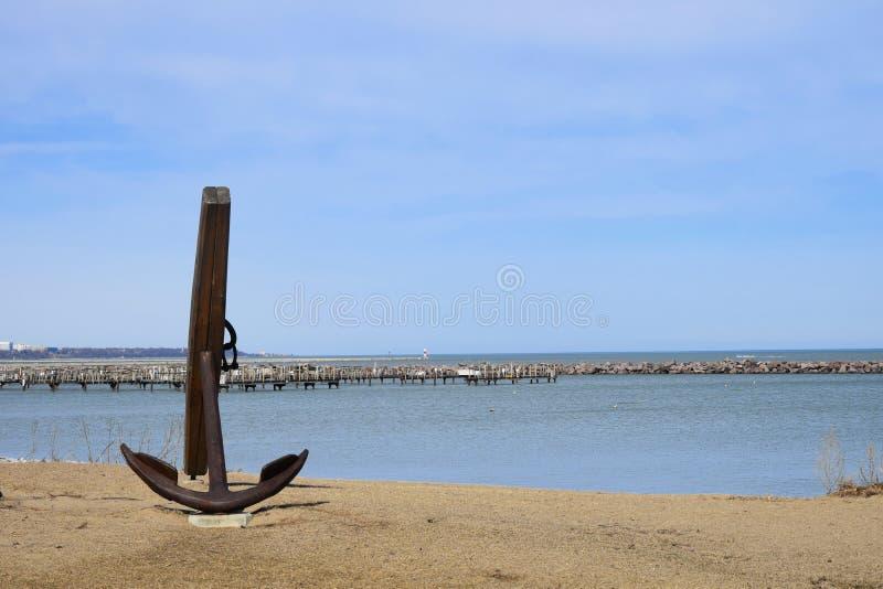 Ankare på Lake Michigan royaltyfri foto