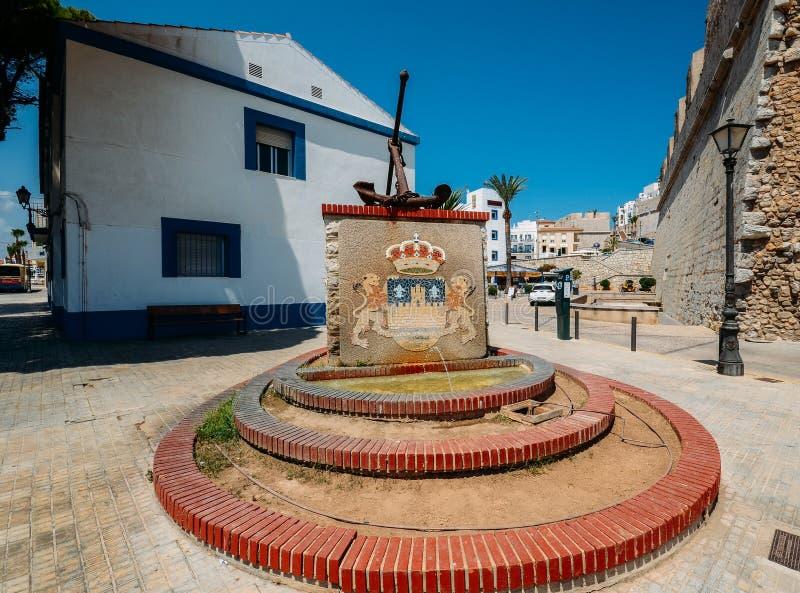 Ankare på Peniscola, Castellon, Spanien arkivbilder