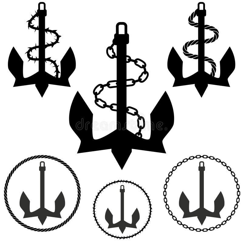 ankarset royaltyfri illustrationer