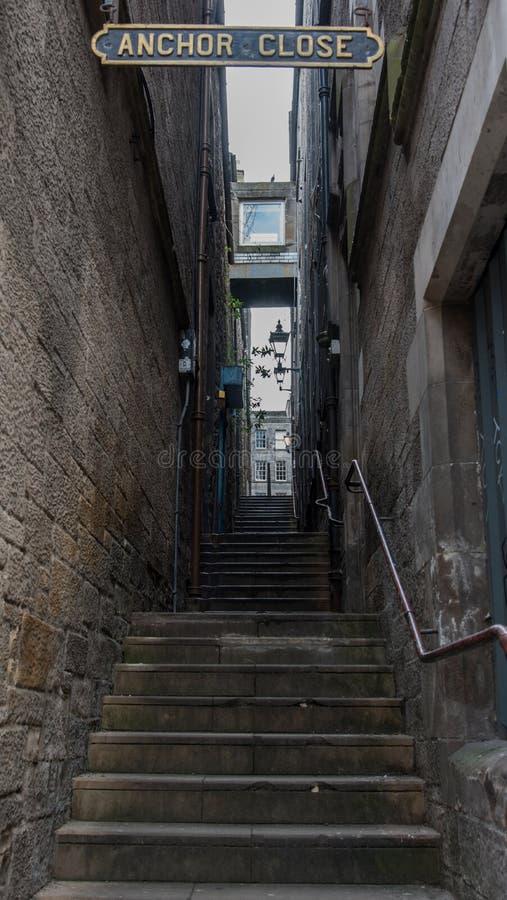 Ankarslut, Edinburg fotografering för bildbyråer