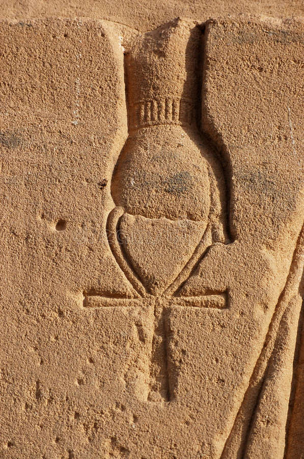 Download Ankh stock photo. Image of temple, fist, archaeology, vertical - 8296998